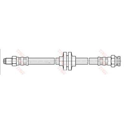 Przewód hamulcowy giętki TRW PHB391 46454474
