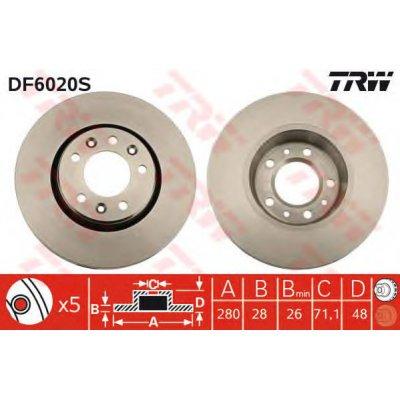 Tarcza hamulcowa TRW DF6020S 9467548387