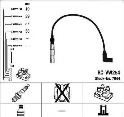 Przewody zapłonowe NGK RC-VW254 RCVW254