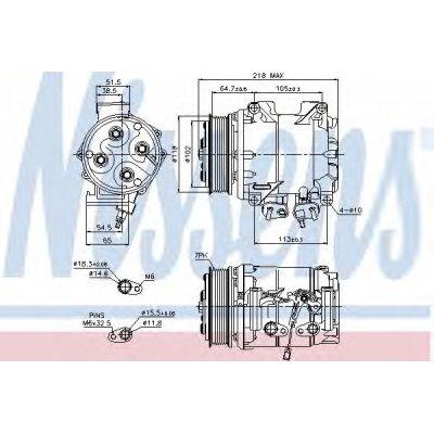 Kompresor klimatyzacji NISSENS 89242 38810PNB006