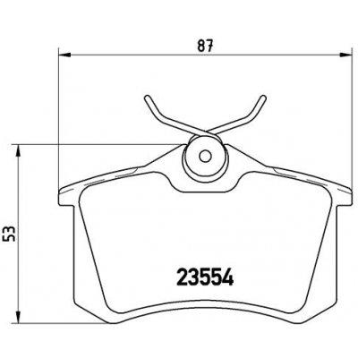Klocki hamulcowe BREMBO P85020 20961.17.2