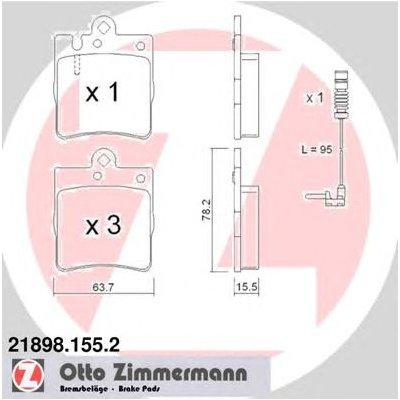 Disc Brake Pad Set-Eng Code 112.941 Rear Hella-PAGID 355008451