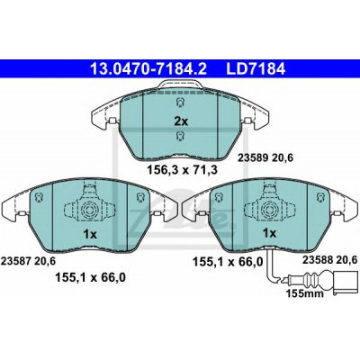 ŻARÓWKA H7 12V 55W COOL BLUE INTENSE 2SZT