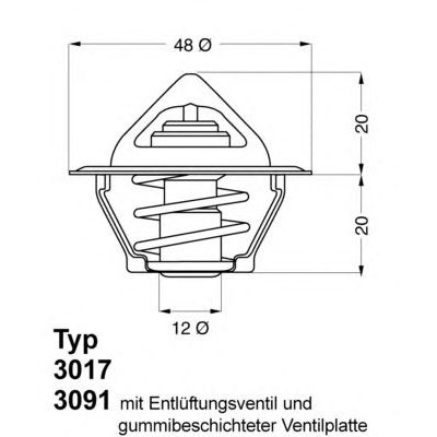 TERMOSTAT VW OPEL 0.9-1.4