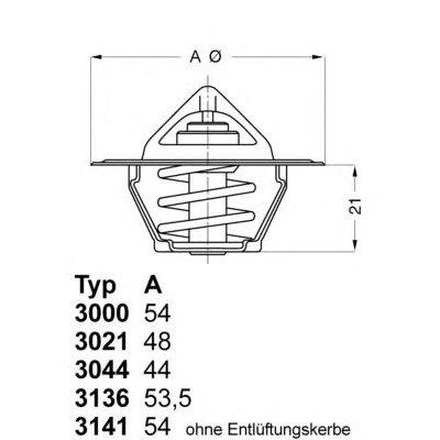 TERMOSTAT FORD/OPEL/FIAT