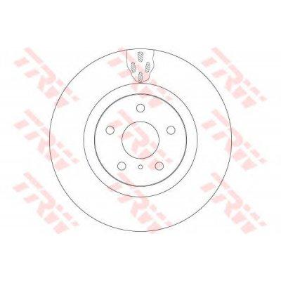 Tarcza hamulcowa TRW DF6480 40206CD005