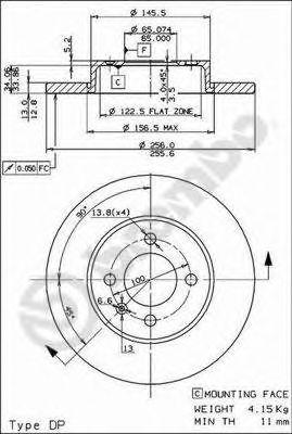 TARCZA HAMULCOWA GOLF III PASSAT 88-