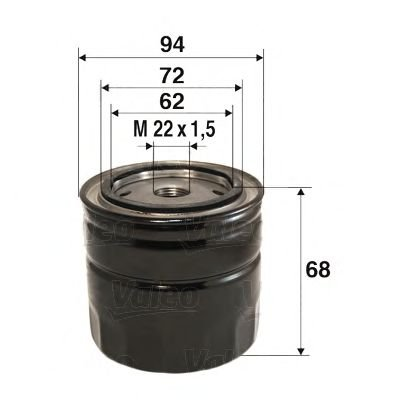 Filtr oleju VALEO 586098 W91428