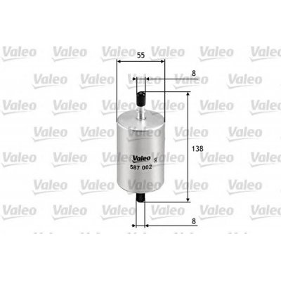 Filtr paliwa VALEO 587002 WK612
