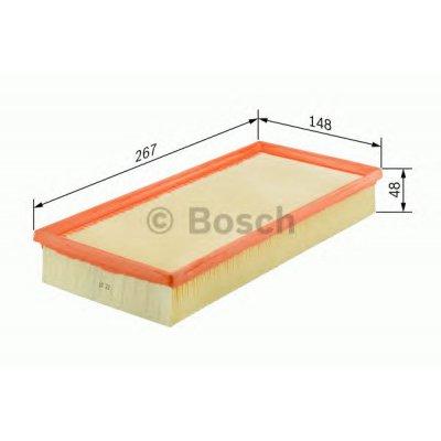 Filtr powietrza BOSCH 1457433686 C2774/3KIT