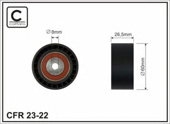 ROLKA PASKA W-KLIN.CITROEN/PEUGEOT 1.9 D/TD 60 PLASTIKOWA
