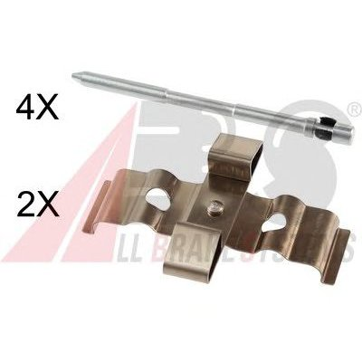 Zestaw montażowy klocków hamulcowych A.B.S. 1848Q
