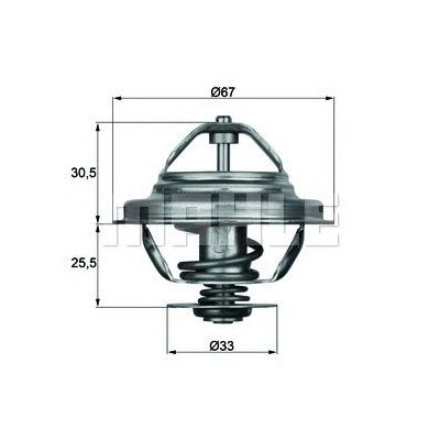 Termostat BEHR TX 27 80D 11531710953