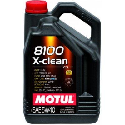 OLEJ 5W-40 8100 X-CLEAN C3 MOTUL 5L