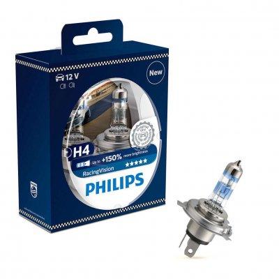 ŻARÓWKI H4 60/55W Philips Racing Vision +150% 2SZT