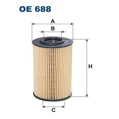 Filtr oleju FILTRON OE688 HU7008Z