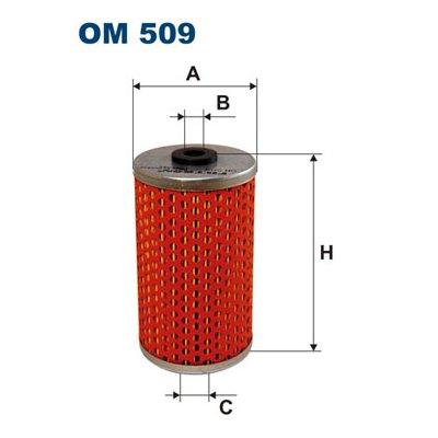 Filtr oleju FILTRON OM509 H614N
