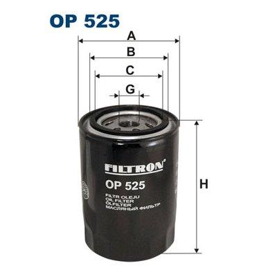 Filtr oleju FILTRON OP525 W94025