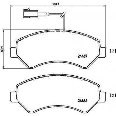 Fiat Ducato Peugeot Boxer Citroen Relay Front Brake Pads 71752980 4254.51