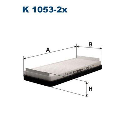 Filtr kabinowy FILTRON K1053-2X CU27452