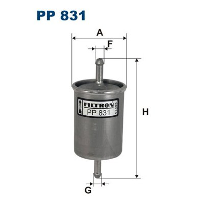 Filtr paliwa FILTRON PP831 WK613