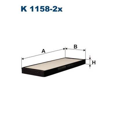Filtr kabinowy FILTRON K1158-2X 96331028