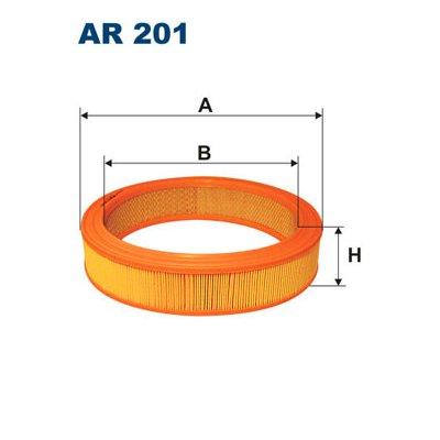 Filtr powietrza FILTRON AR201 C28522