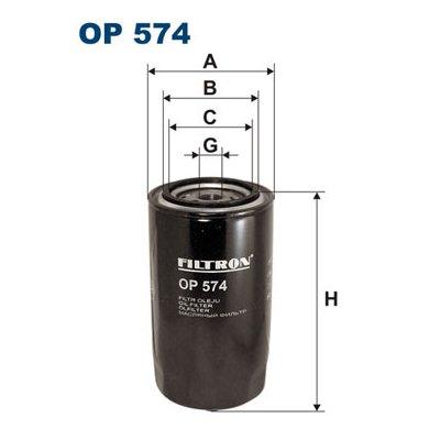 Filtr oleju FILTRON OP574 W9504