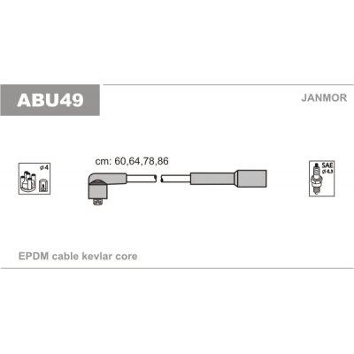 Przewody zapłonowe JANMOR ABU49 934