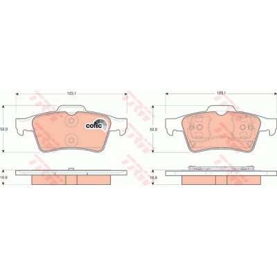 BRAKE PADS RENAULT LAGUNA 01- REAR
