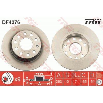 Tarcza hamulcowa TRW DF4276 1K0615601K
