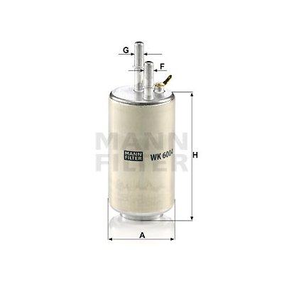Filtr paliwa MANN-FILTER WK6004
