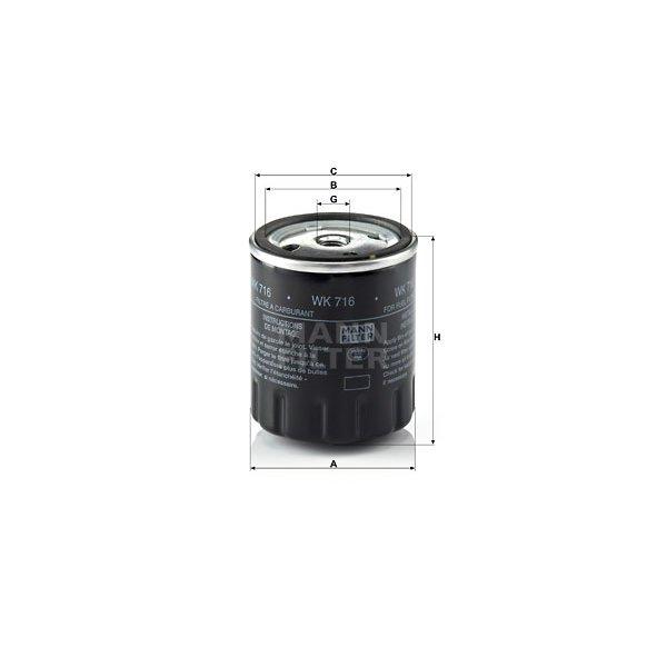 Filtro gasolio BOSCH 1457434153 MERCEDES PUCH