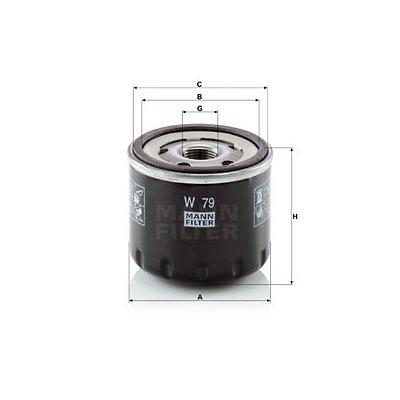 Filtr oleju MANN-FILTER W79