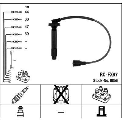 Przewody wysokiego napięcia komplet NGK RC-FX67 RCFX67