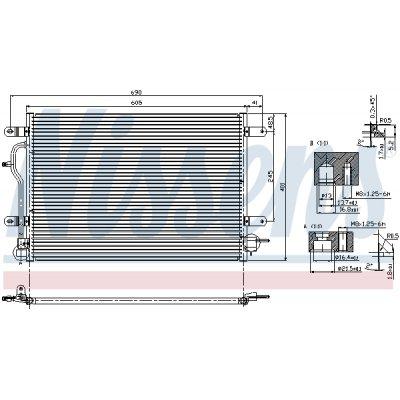 Chłodnica klimatyzacji NISSENS 94583 8E0260403A