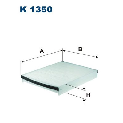 Filtr kabinowy FILTRON K1350 CU25007