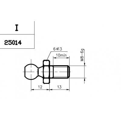 Sworzeń kulowy FA KROSNO 25014