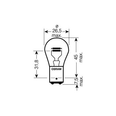 Bulb 64138 Osram H21W Genuine Top Quality Replacement New