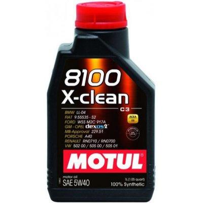 OLEJ 5W-40 8100 X-CLEAN C3 MOTUL 1L