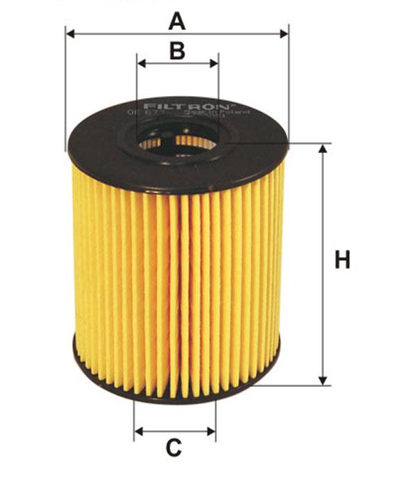 Filtr oleju FILTRON OE673 HU71151X