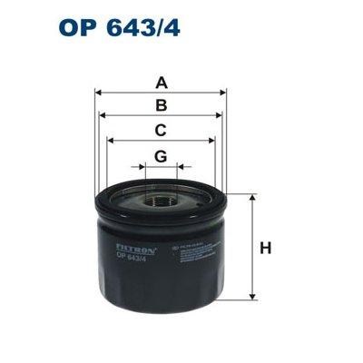 Filtr oleju FILTRON OP643/4 W79