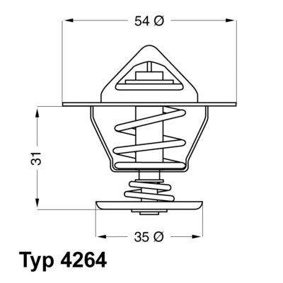 Termostat WAHLER 4264.87D 44121113