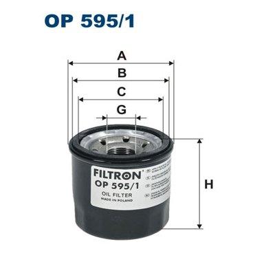 Filtr oleju FILTRON OP595/1 W6018