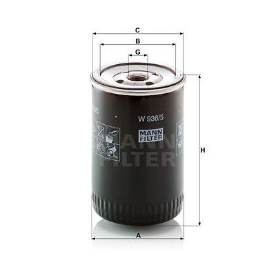 Filtr oleju MANN-FILTER W936/5 W9365