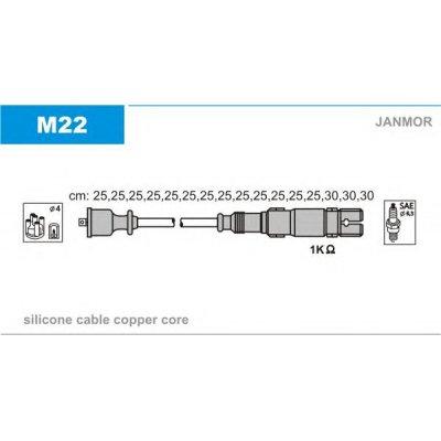Przewody wysokiego napięcia komplet JANMOR M22 1121500318