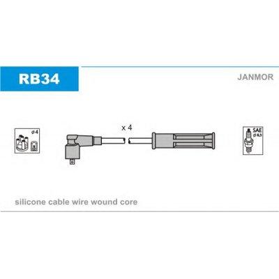 Przewody wysokiego napięcia komplet JANMOR RB34 RCRN1202