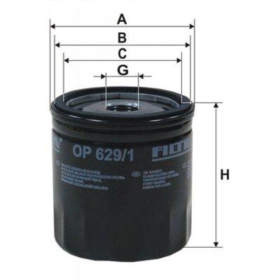 Filtr oleju FILTRON OP629/1 W71281