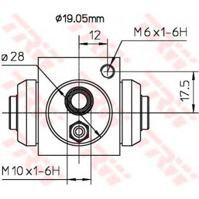 Cylinderek hamulcowy TRW BWD119A 550153